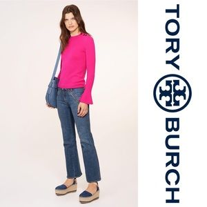 Tory Burch Kimberly sweater in hibiscus